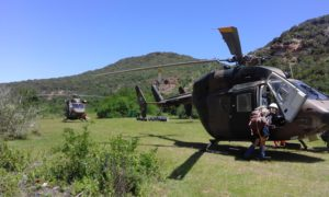 The Air Force helicopters used during the Search and Rescue exercise last year